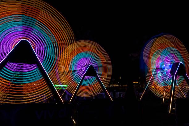 Illuminated Spinning Light stock photo