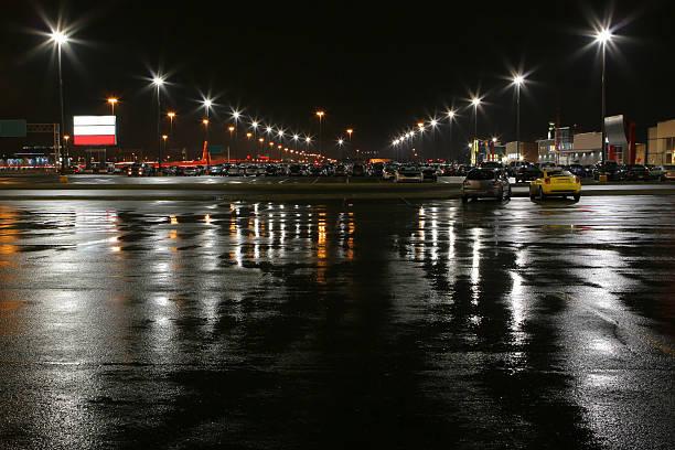 Stores Parken bei Nacht beleuchtet – Foto
