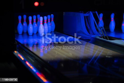 Illuminated tenpin bowling alley