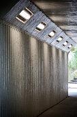 Illuminated underpass