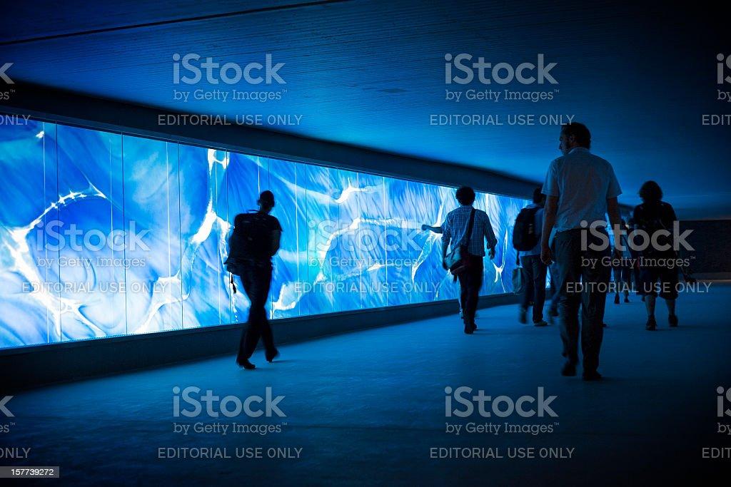 Illuminated underpass royalty-free stock photo