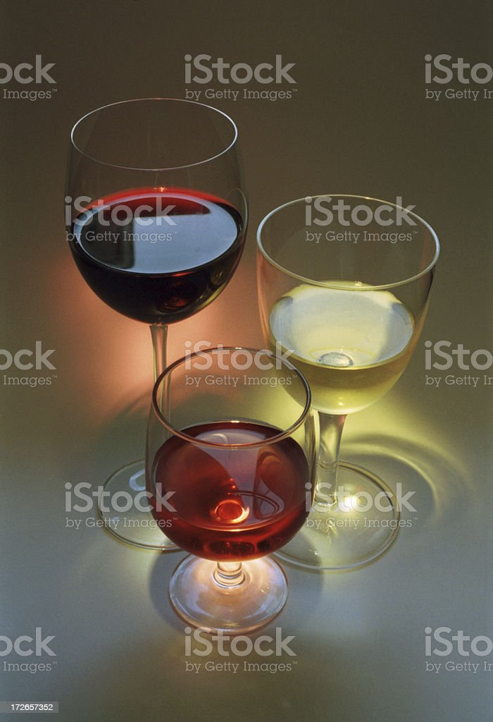 Illuminated Wines royalty-free stock photo
