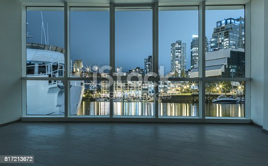 istock illuminated yaletown harbor outside the windows 817213672