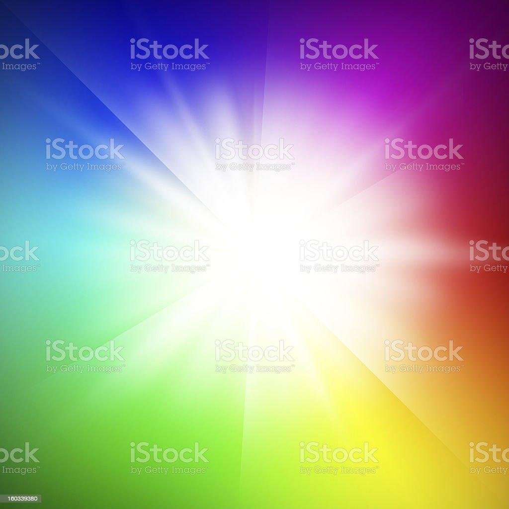 Illuminating spectrum stock photo
