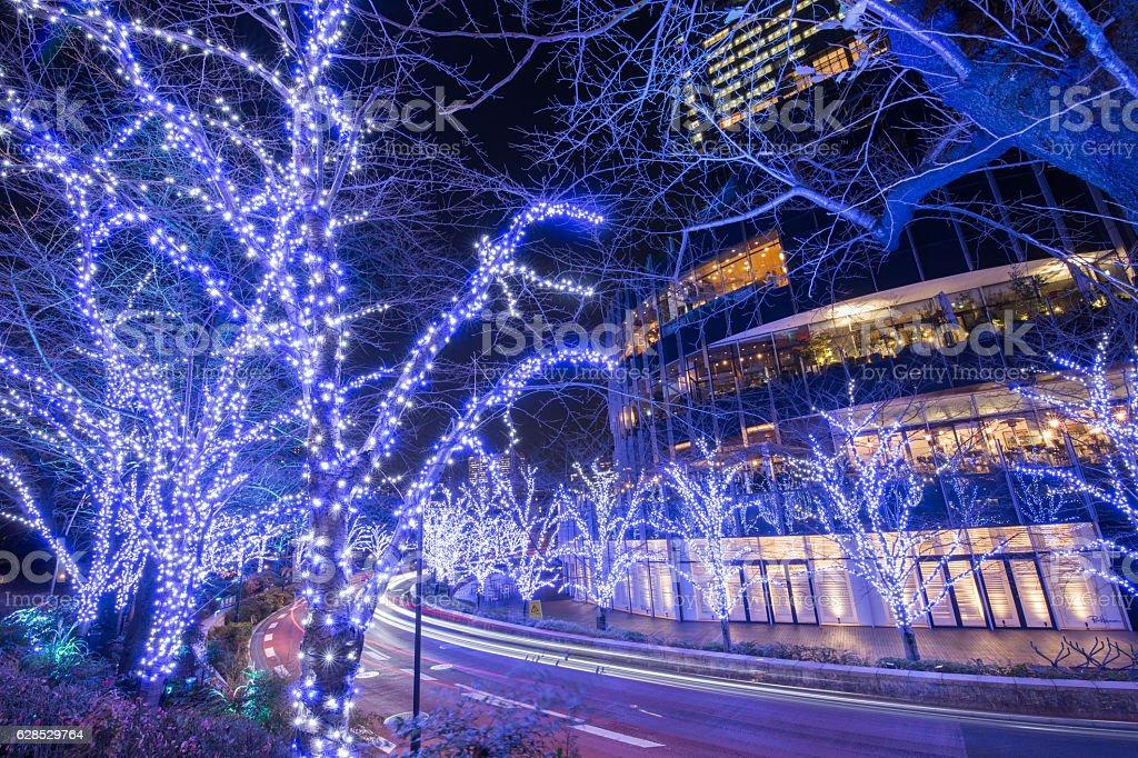 Illumination of Tokyo stock photo