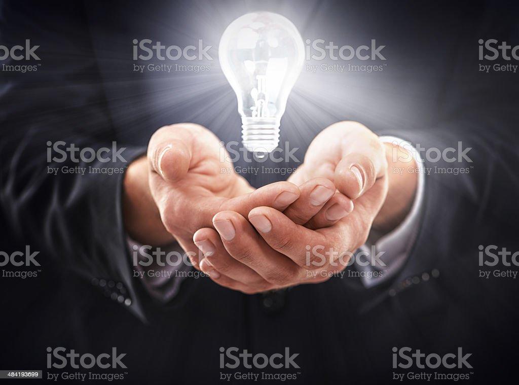 Illuminting with new ideas stock photo