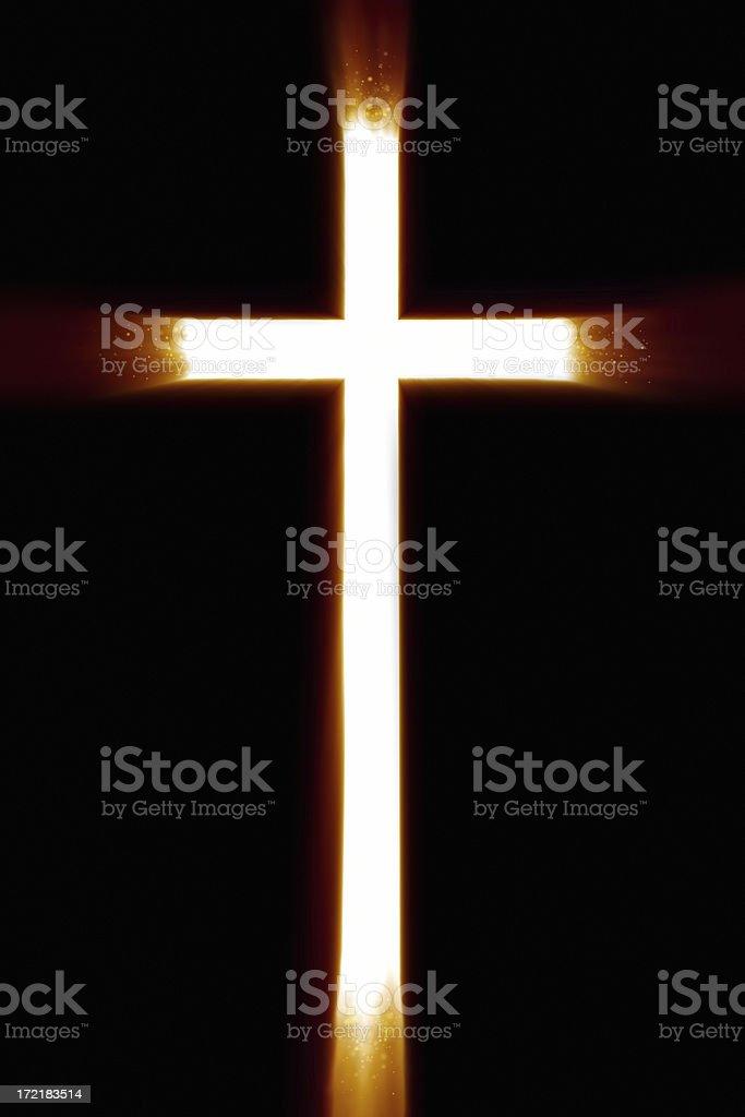 Illuninated Cross stock photo