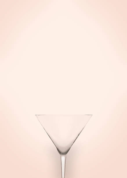 illusion of a martini glass blending into the background - vagina stock photos and pictures