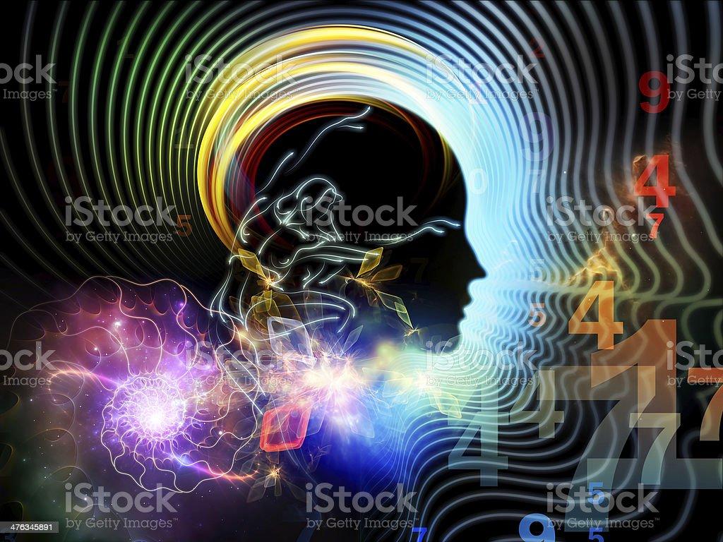 Illusion of Human Mind royalty-free stock photo