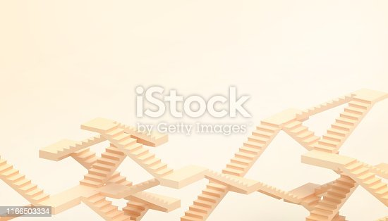 846409842 istock photo illusion of the Orange ladder and the business concept and artistic elements presented in the pastel Orange background - 3D rendering 1166503334