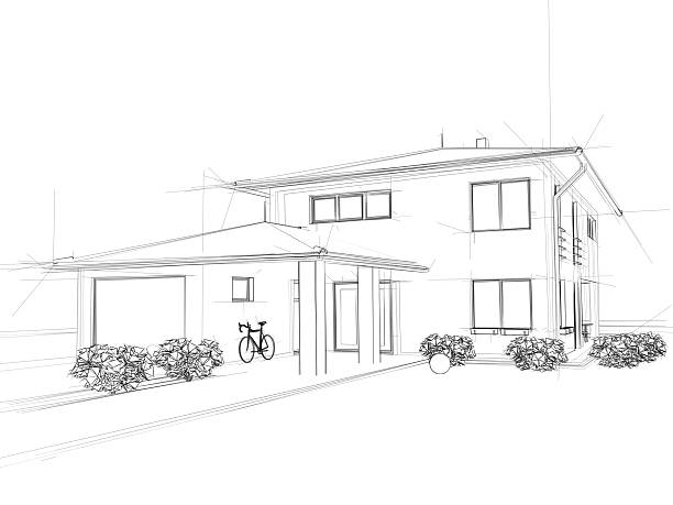 Illustrations pictures images and stock photos istock for Exterior house drawing