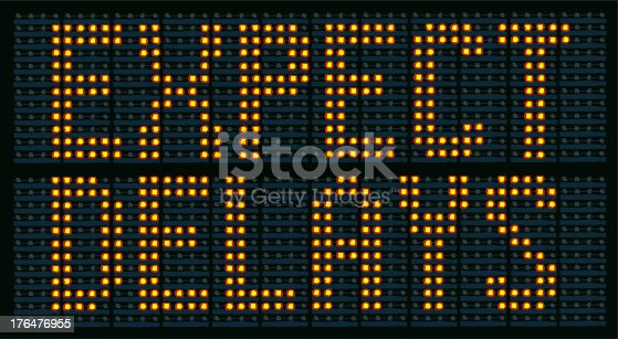 Raster Illustration Of Urban Traffic Congestion Sign Saying Expect Delays