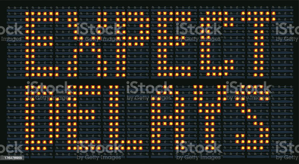 Illustrated Expect Delays Sign stock photo