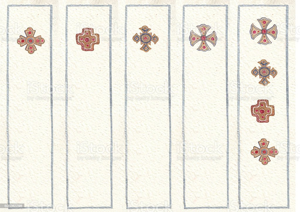 illustrated in watercolor bookmarks stock photo