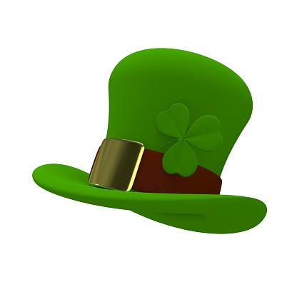 3D Illustration a Green St. Patrick's Day Hat