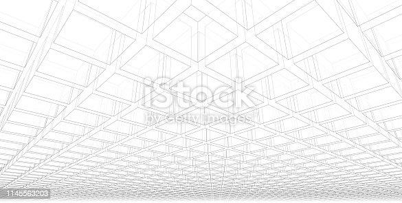 1145563376 istock photo 3D illustration architecture building. 1145563203