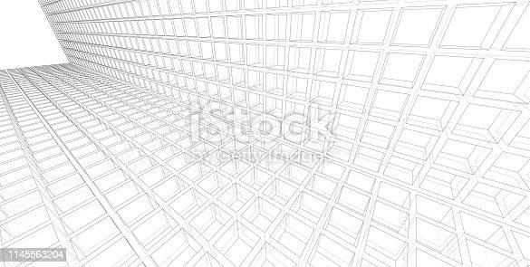 1145563376 istock photo 3D illustration architecture building. 1145563204