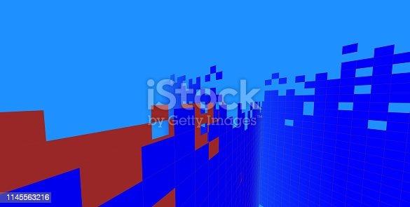 1145563376 istock photo 3D illustration architecture building. 1145563216