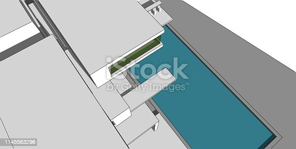 1145563376 istock photo 3D illustration architecture building. 1145563296