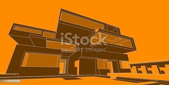 1145563376 istock photo 3D illustration architecture building. 1145563336