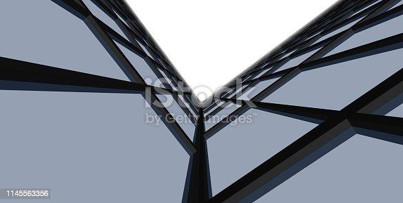 1145563376 istock photo 3D illustration architecture building. 1145563356