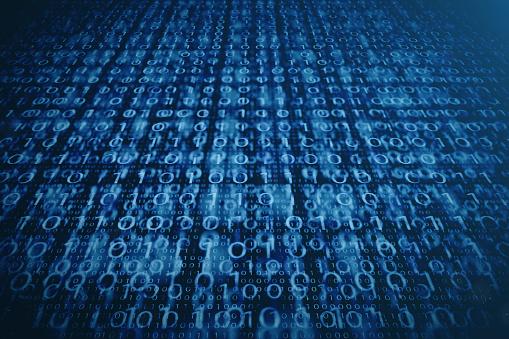848353924 istock photo 3D illustration binary code on blue background. Bytes of binary code. Concept technology. Digital binary background. 1023105770