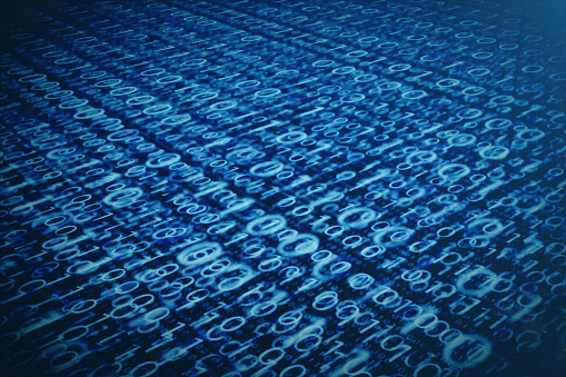 848353924 istock photo 3D illustration binary code on blue background. Bytes of binary code. Concept technology. Digital binary background. 1023105780