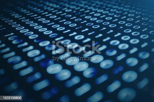 848353924istockphoto 3D illustration binary code on blue background. Bytes of binary code. Concept technology. Digital binary background. 1023105800