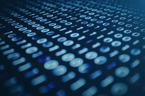 848353924 istock photo 3D illustration binary code on blue background. Bytes of binary code. Concept technology. Digital binary background. 1023105800