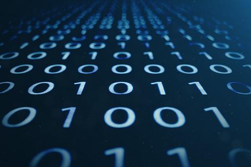848353924 istock photo 3D illustration binary code on blue background. Bytes of binary code. Concept technology. Digital binary background. 1023105808