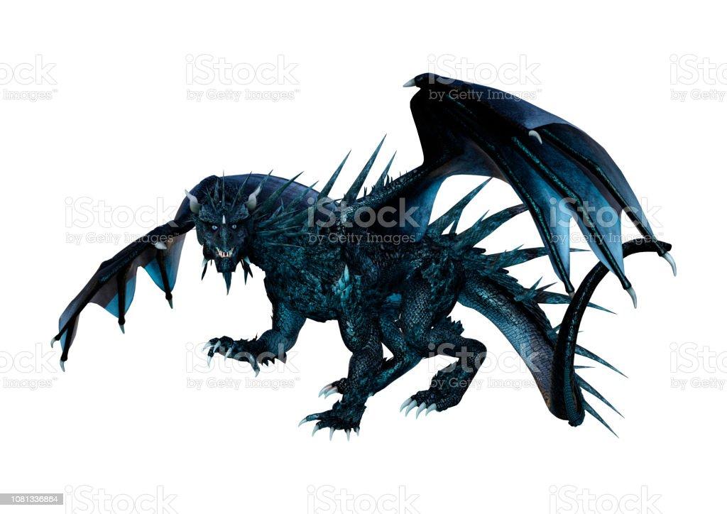 7b5a983d4bb695 3d Abbildung Schwarz Fantasy Drachen Auf Weiß Stockfoto und mehr ...
