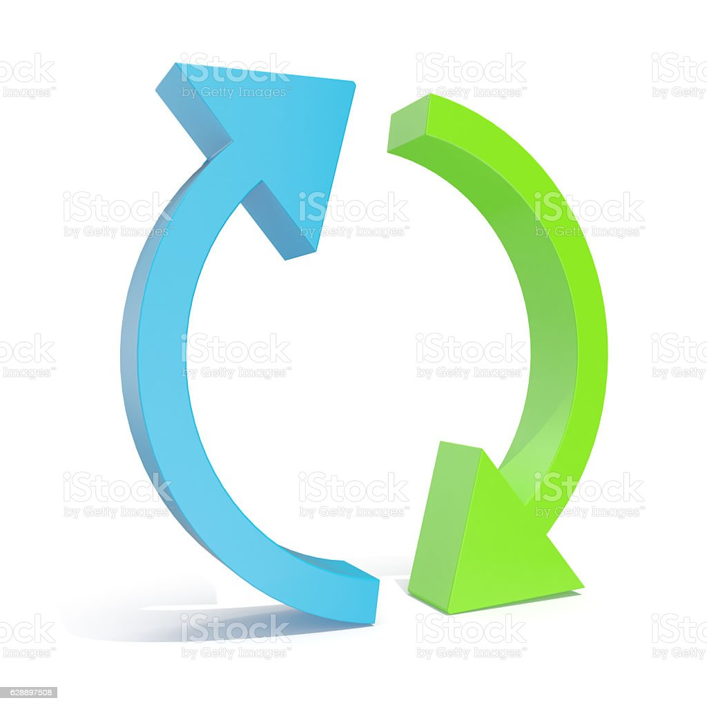 illustration circular Arrow isolated on white background. stock photo