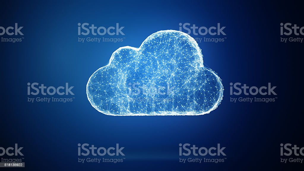 3D illustration: cloud storage bildbanksfoto