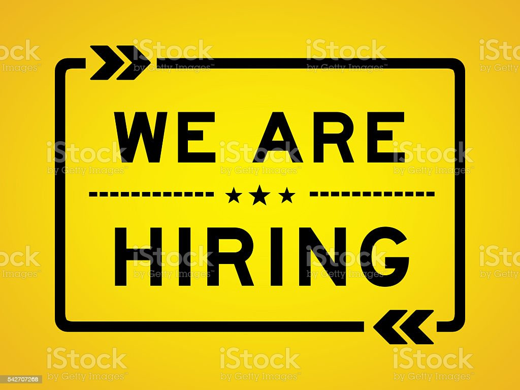 WE ARE HIRING illustration concept stock photo
