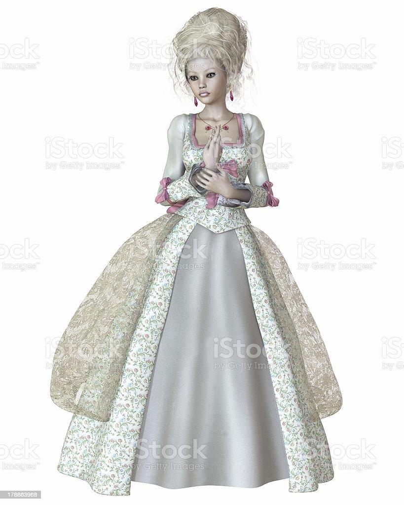 Illustration depicting Queen Marie Antoinette stock photo