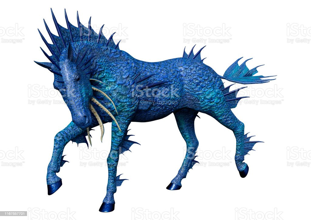 3d Illustration Fantasy Water Horse On White Stock Photo Download Image Now Istock