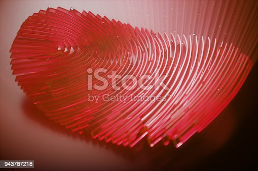 istock 3D illustration Fingerprint scan provides security access with biometrics identification. Personal data hacking concept. Hacking, insecurity 943787218
