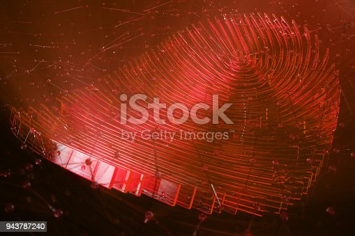 istock 3D illustration Fingerprint scan provides security access with biometrics identification. Personal data hacking concept. Hacking, insecurity 943787240