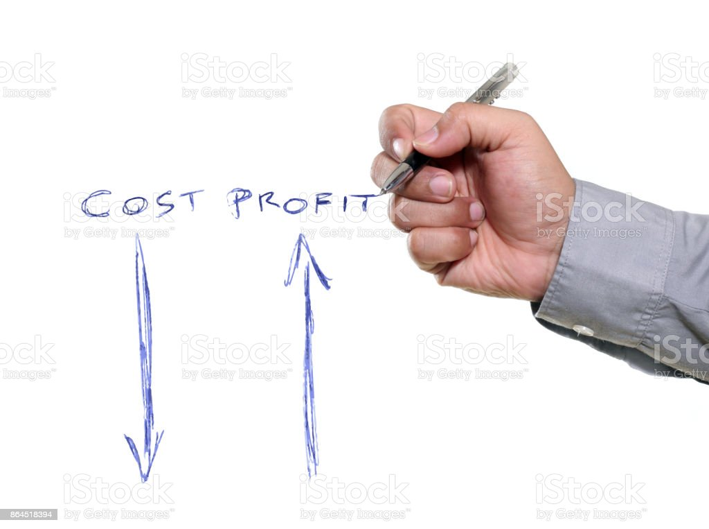 Illustration for correlation between Cost and Profit stock photo