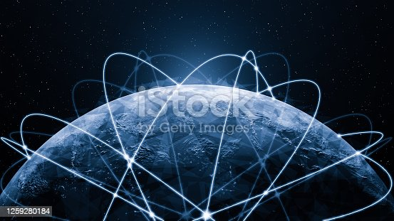 861165648 istock photo 3D illustration global modern creative communication and internet network map 1259280184