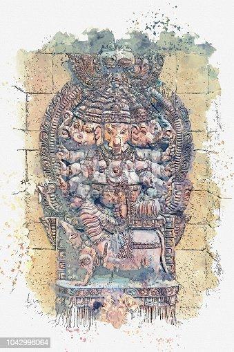 istock illustration God Ganesha is an elephant fulfilling desires. 1042998064