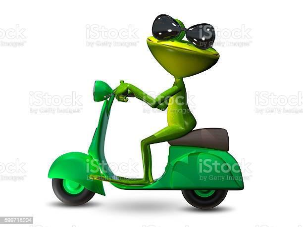 Illustration green frog on a motor scooter picture id599718204?b=1&k=6&m=599718204&s=612x612&h=mqxtanstapqkerxuolr3bh70zskog88kit5u8 stuuq=