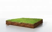 3D Illustration ground ecology isolated on white