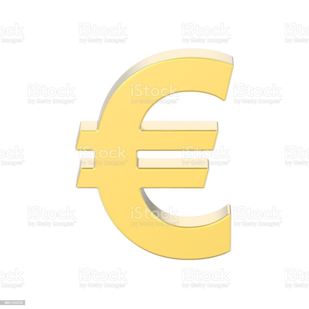 3D illustration isolated gold uero money zbiór zdjęć royalty-free