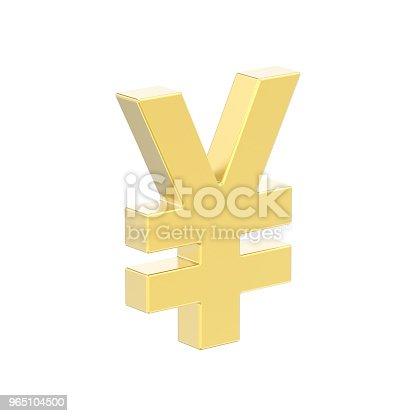 3d Illustration Isolated Golden Yen Money - Stockowe zdjęcia i więcej obrazów Abstrakcja