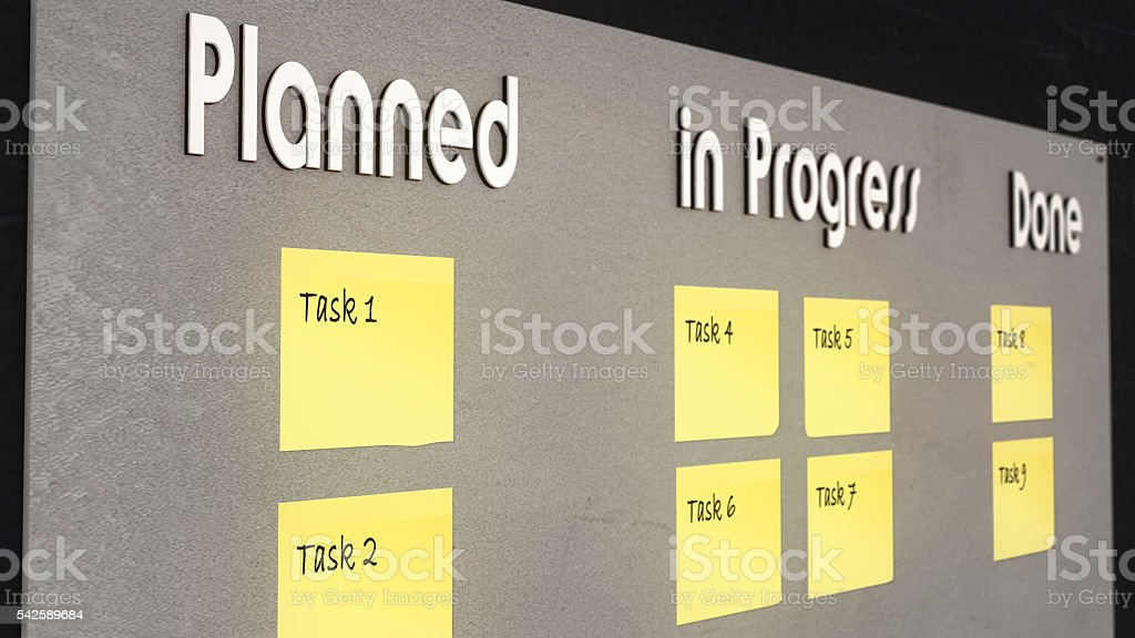 Illustration: Kanban Board stock photo