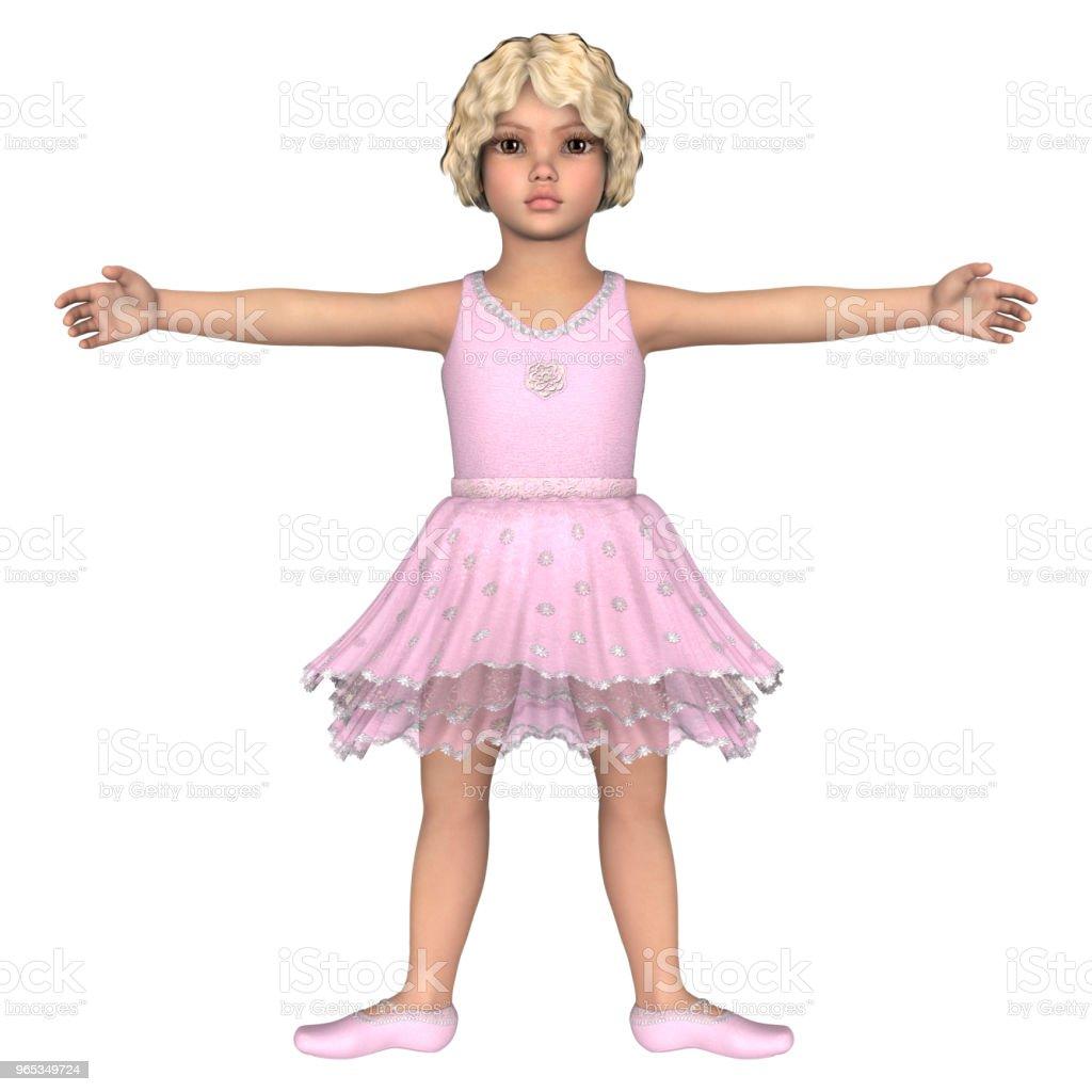 3D illustration little ballerina on white - Zbiór zdjęć royalty-free (Artysta)