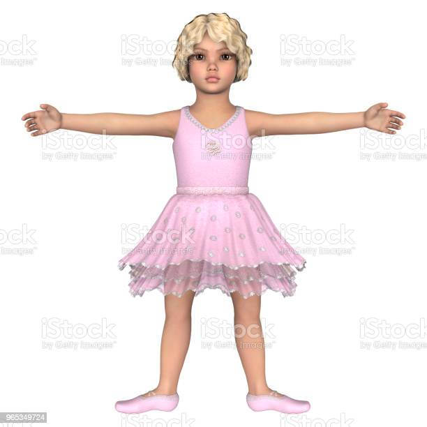 Ilustracja 3d Mała Baletnica Na Białym - zdjęcia stockowe i więcej obrazów Artysta