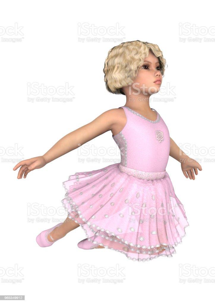 3D illustration petite ballerine sur blanc - Photo de Allemagne libre de droits
