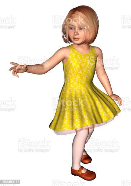 Ilustracja 3d Mała Dziewczynka Na Białym - zdjęcia stockowe i więcej obrazów Białe tło